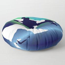 Paper Craft Orca Floor Pillow
