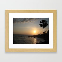 Laguna Beach Sunset Framed Art Print