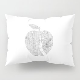 New York City big apple Poster black and white I Heart I Love NYC home decor bedroom wall art Pillow Sham