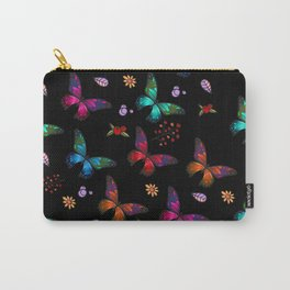 Pretty Vibrant Colorful Butterflies Pattern Carry-All Pouch