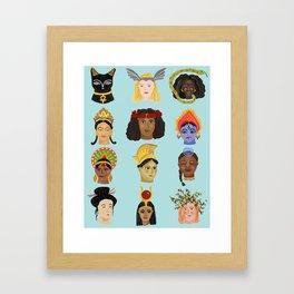 Goddesses Around the World Framed Art Print