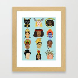 Goddesses Around the World Framed Art Print