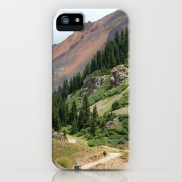 Road to the Longfellow Mine, elevation 11,080 feet iPhone Case