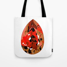 GEMS - red , velvet , orange , rubin Tote Bag