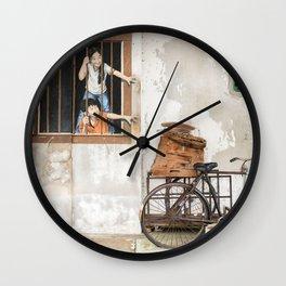I Want Bao! George Town, Penang Street Art Wall Clock