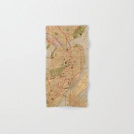 Vintage Map of Boston MA (1902) Hand & Bath Towel