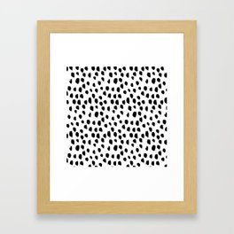 Hand drawn drops and dots on white - Mix & Match with Simplicty of life Framed Art Print