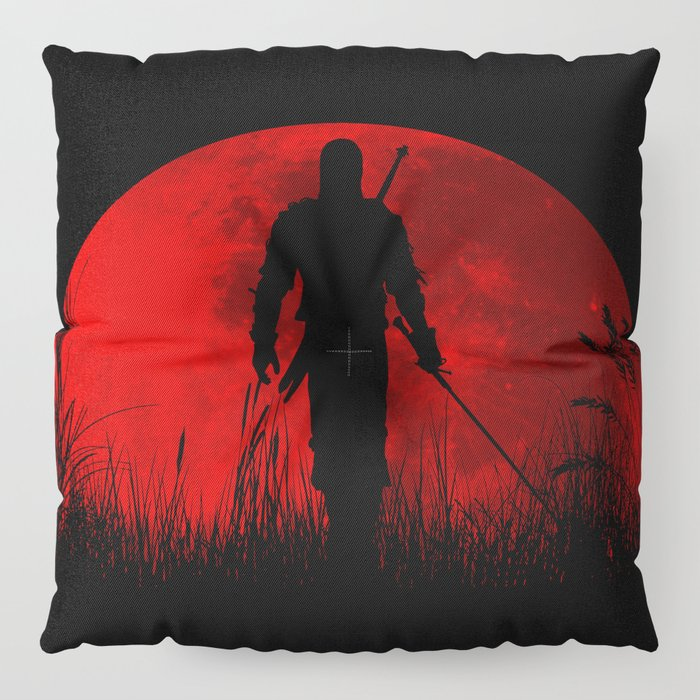 Red Moon Floor Pillow by outerheaven | Society6