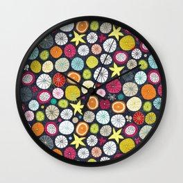 umbrellas cobalt Wall Clock
