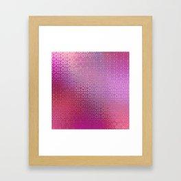 Trinity Pattern (pretty pink) Framed Art Print