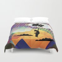 collage Duvet Covers featuring collage by mark ashkenazi