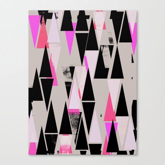 Pink Triangles II Canvas Print