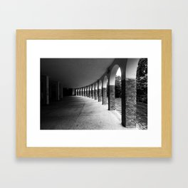 abandoned front porch Framed Art Print