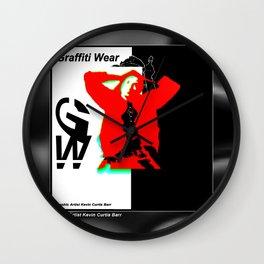 GRAFFITI WEAR...times red Wall Clock
