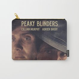 Peaky Blinders poster, Cillian Murphy is Thomas Shelby, Adrien Brody is Luca Changretta Carry-All Pouch