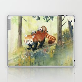 Red Panda Family Laptop & iPad Skin