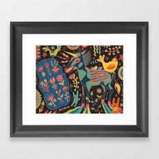 Unicorn Babble Framed Art Print