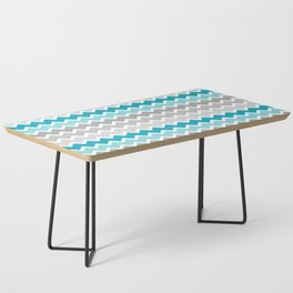 Turquoise Teal Blue Gray Chevron Coffee Table
