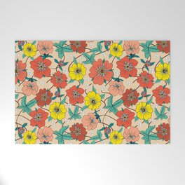 Potentillas and Daisies Welcome Mat