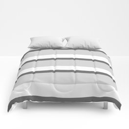 Strips - white and gray. Comforters
