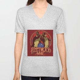 fleetwood mac1 dou penguins Unisex V-Neck