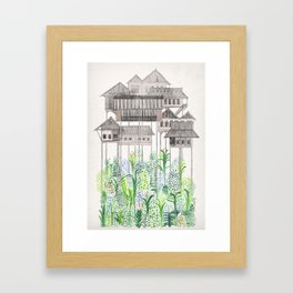 Jungle Stilts Framed Art Print