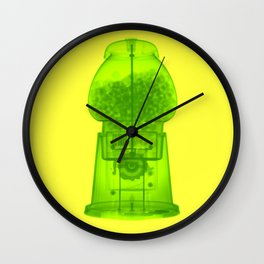 x-ray gum machine Wall Clock