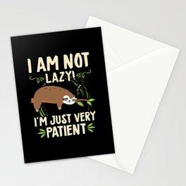 I Am Not Lazy Patient Sloth Lazy Stationery Cards