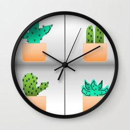 Prickly Pairs Wall Clock