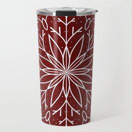 Single Snowflake - dark red Travel Mug