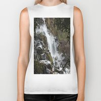 waterfall Biker Tanks featuring Waterfall by Four Hands Art