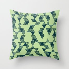 Scattered Triangles Throw Pillow