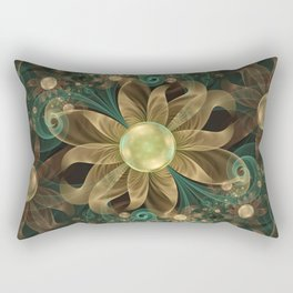 Shining Gems Blooming as Bronze and Copper Flowers Rectangular Pillow