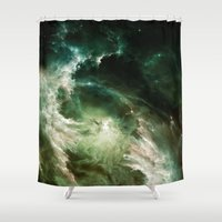 helen Shower Curtains featuring β Electra by Nireth