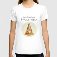 pizza T-shirts featuring pizza by Maha Akl