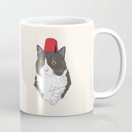 Fez Hat Cat Coffee Mug