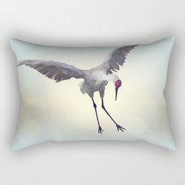 Sandhill Crane painting.Digital art. Rectangular Pillow