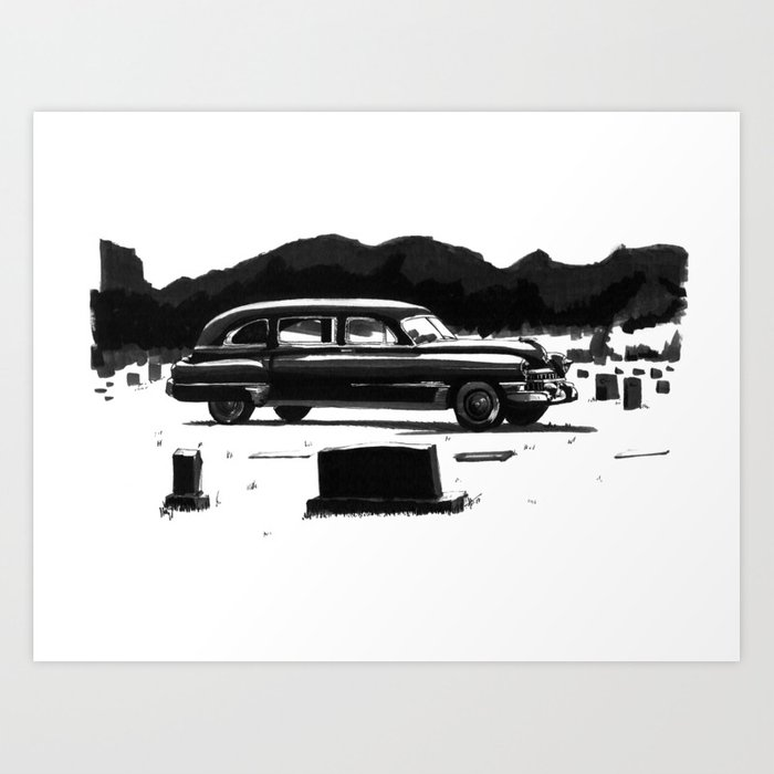 49 Cadillac Hearse Art Print