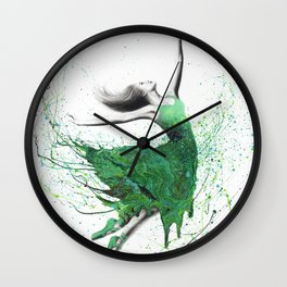 Green Fashion Dancer Wall Clock