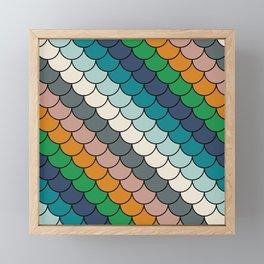 Colorful scales pattern I Framed Mini Art Print