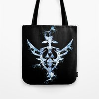 triforce Tote Bags featuring Water Triforce by bivisual