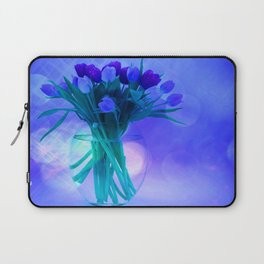 A Blue Bloom for Spring Laptop Sleeve