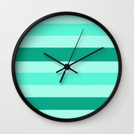 Winter Mint Candy - Color Therapy Wall Clock