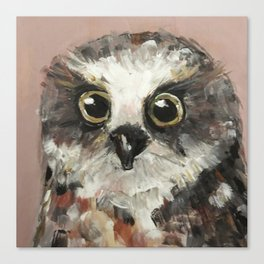 Nursery Art / Nursery Decor - Baby Owl Canvas Print