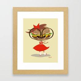 Burger Cutie Time Framed Art Print
