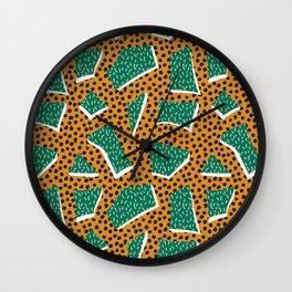 Memphis Style 4 Wall Clock