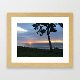 SLIVER OF A SUNSET Framed Art Print