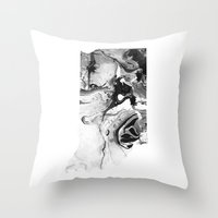 indiana Throw Pillows featuring Indiana by PearlStDesignCo