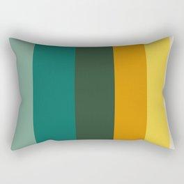 Colorful Green & Yellow Pattern Rectangular Pillow