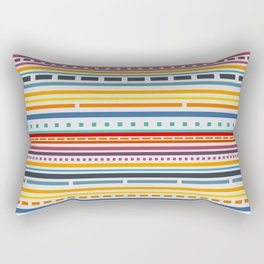 Multicolored lines and dots Rectangular Pillow